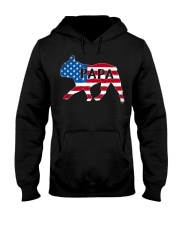 Papa French Bulldog American Flag Shirt Hooded Sweatshirt thumbnail
