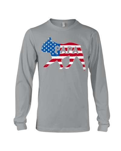 Papa French Bulldog American Flag Shirt