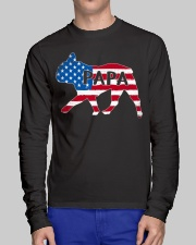 Papa French Bulldog American Flag Shirt Long Sleeve Tee lifestyle-unisex-longsleeve-front-1