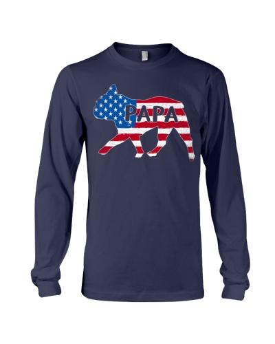 Papa French Bulldog American Flag Shirt