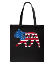 Papa French Bulldog American Flag Shirt Tote Bag tile