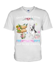Once Upon Time Frenchie V-Neck T-Shirt thumbnail