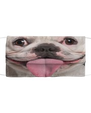Funny Frenchie Face Mask Cloth face mask front