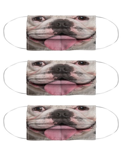 Funny Frenchie Face Mask