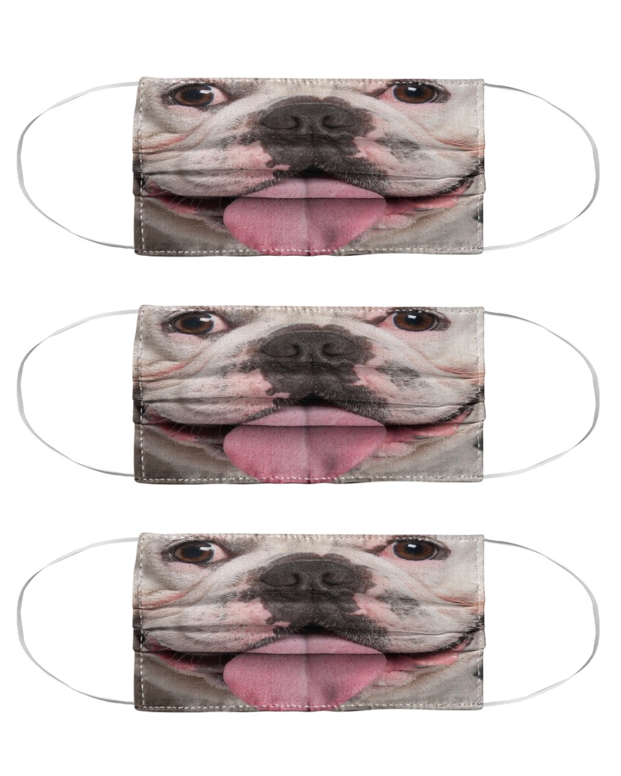 Funny Frenchie Face Mask Cloth Face Mask - 3 Pack