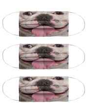 Funny Frenchie Face Mask Cloth Face Mask - 3 Pack front