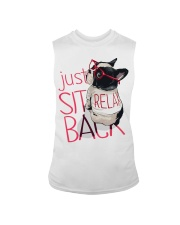 Frenchie Just Sit Relax Back Sleeveless Tee thumbnail