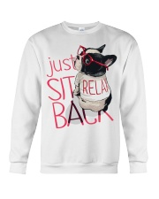 Frenchie Just Sit Relax Back Crewneck Sweatshirt thumbnail