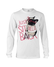 Frenchie Just Sit Relax Back Long Sleeve Tee thumbnail
