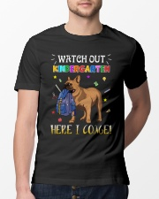 French Bulldog Watch Out Kindergarten T Shirt Classic T-Shirt lifestyle-mens-crewneck-front-13