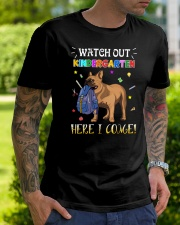 French Bulldog Watch Out Kindergarten T Shirt Premium Fit Mens Tee lifestyle-mens-crewneck-front-7