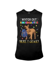 French Bulldog Watch Out Kindergarten T Shirt Sleeveless Tee tile