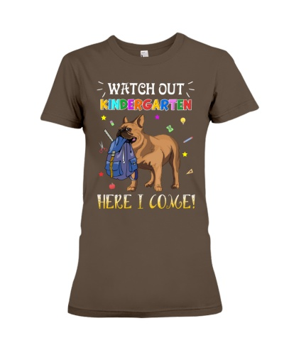 French Bulldog Watch Out Kindergarten T Shirt