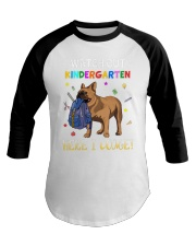 French Bulldog Watch Out Kindergarten T Shirt Baseball Tee thumbnail