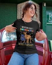 French Bulldog Watch Out Kindergarten T Shirt Ladies T-Shirt apparel-ladies-t-shirt-lifestyle-01