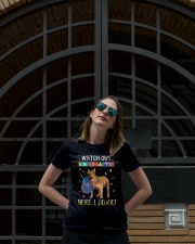 French Bulldog Watch Out Kindergarten T Shirt Ladies T-Shirt lifestyle-women-crewneck-front-1