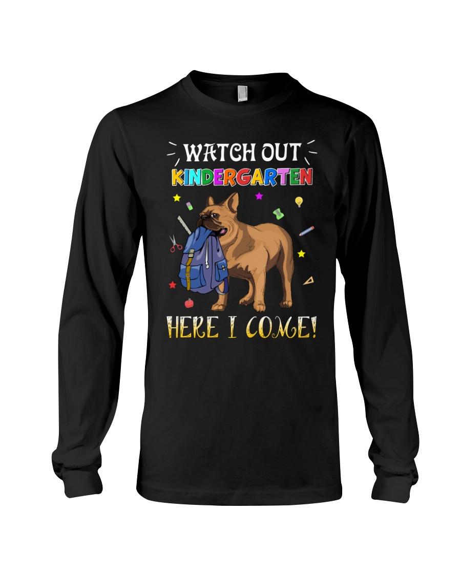 French Bulldog Watch Out Kindergarten T Shirt Long Sleeve Tee