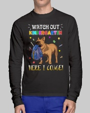 French Bulldog Watch Out Kindergarten T Shirt Long Sleeve Tee lifestyle-unisex-longsleeve-front-1