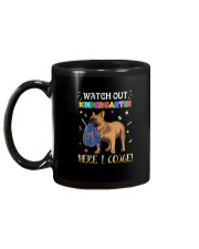French Bulldog Watch Out Kindergarten T Shirt Mug back