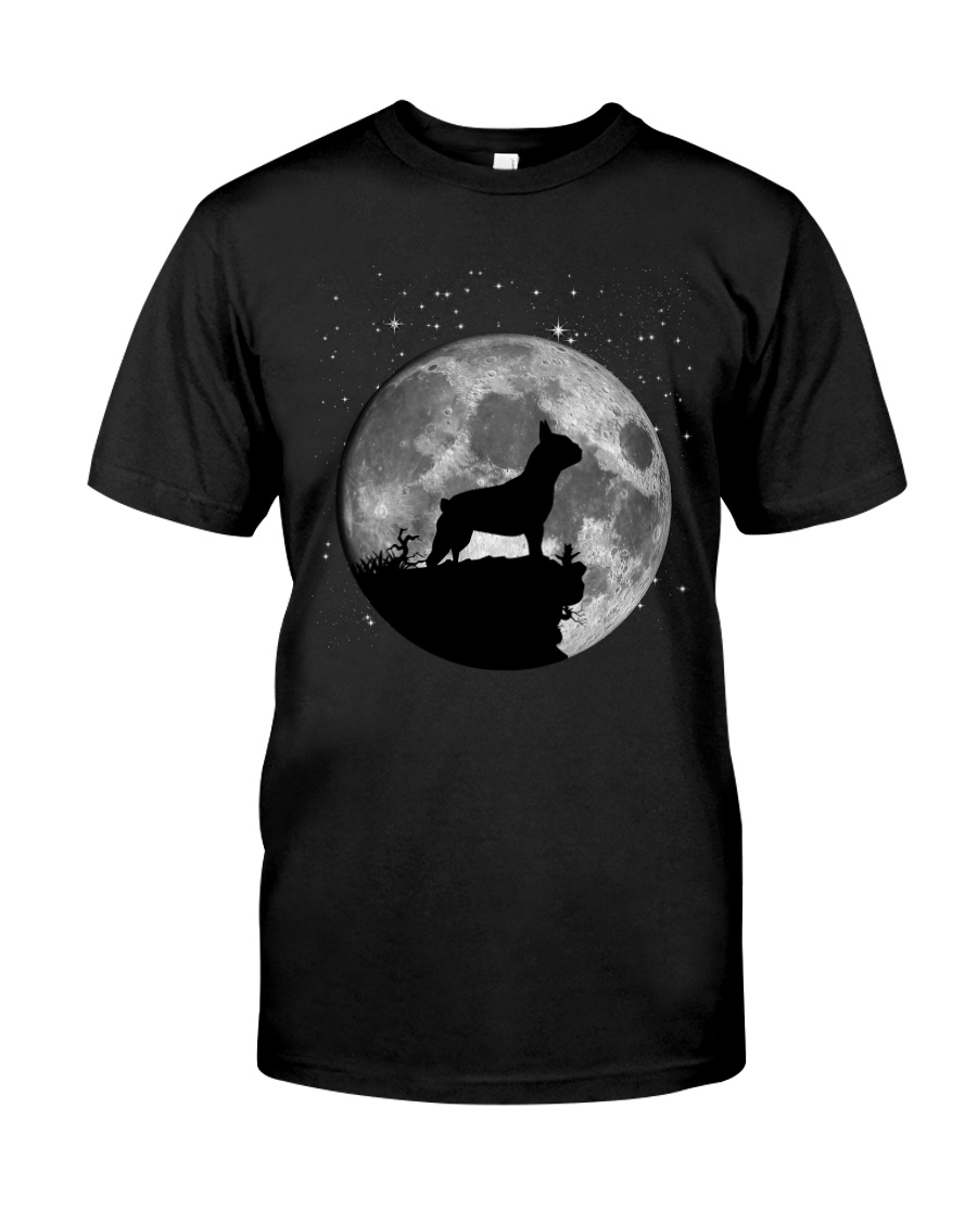 French Bulldog On The Moon T Shirt Premium Fit Mens Tee