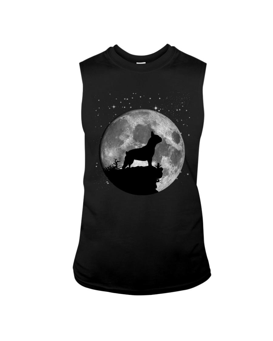 French Bulldog On The Moon T Shirt Sleeveless Tee