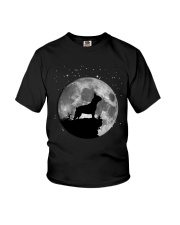 French Bulldog On The Moon T Shirt Youth T-Shirt front