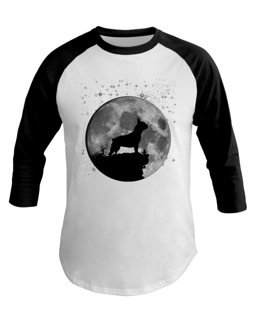 French Bulldog On The Moon T Shirt Baseball Tee