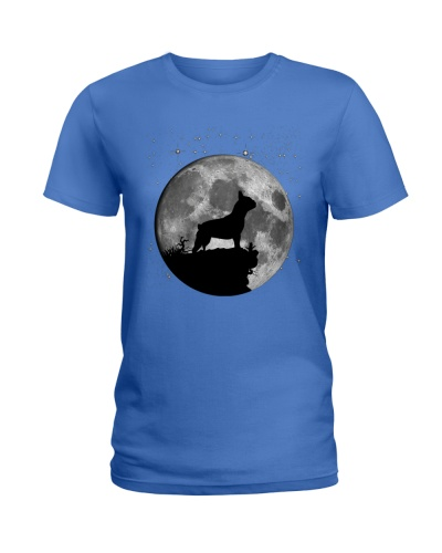 French Bulldog On The Moon T Shirt