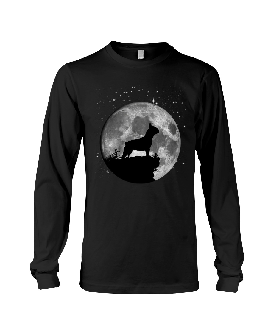 French Bulldog On The Moon T Shirt Long Sleeve Tee
