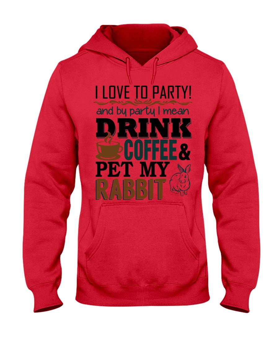 Coffee And Rabbit T-Shirt Hooded Sweatshirt
