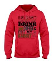 Coffee And Rabbit T-Shirt Hooded Sweatshirt front