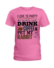 Coffee And Rabbit T-Shirt Ladies T-Shirt thumbnail