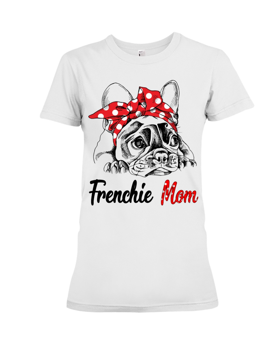 Frechie Mom With Red Bandana Premium Fit Ladies Tee