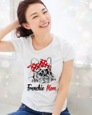 Frechie Mom With Red Bandana Premium Fit Ladies Tee lifestyle-holiday-womenscrewneck-front-1