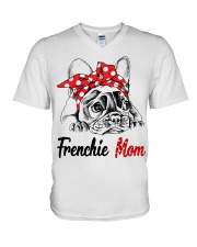 Frechie Mom With Red Bandana V-Neck T-Shirt thumbnail