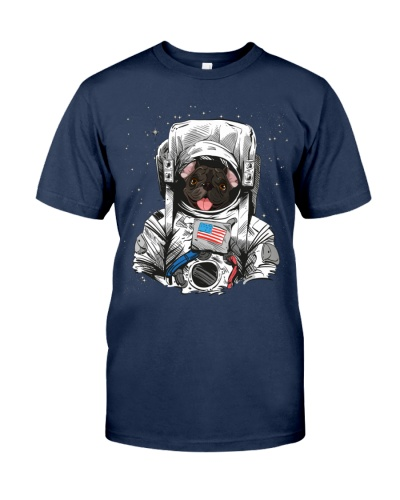 French Bulldog On Space T SHirt