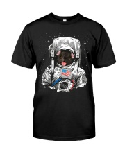 French Bulldog On Space T SHirt Premium Fit Mens Tee tile