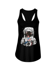 French Bulldog On Space T SHirt Ladies Flowy Tank tile