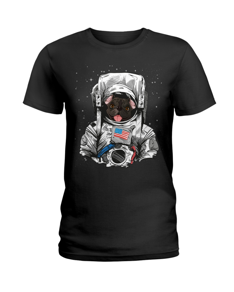 French Bulldog On Space T SHirt Ladies T-Shirt
