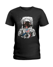 French Bulldog On Space T SHirt Ladies T-Shirt tile
