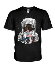 French Bulldog On Space T SHirt V-Neck T-Shirt tile