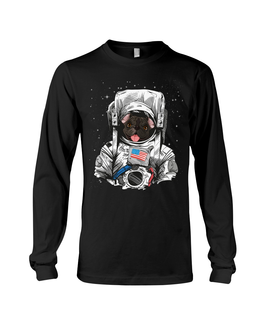 French Bulldog On Space T SHirt Long Sleeve Tee
