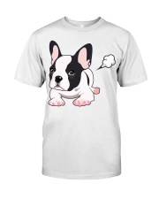 Funny French Bulldog Puppy T Shirt Classic T-Shirt tile
