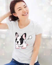 Funny French Bulldog Puppy T Shirt Premium Fit Ladies Tee lifestyle-holiday-womenscrewneck-front-1