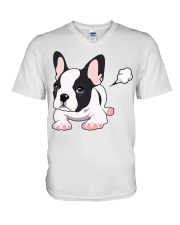 Funny French Bulldog Puppy T Shirt V-Neck T-Shirt thumbnail