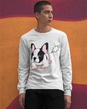Funny French Bulldog Puppy T Shirt Long Sleeve Tee apparel-long-sleeve-tee-lifestyle-04