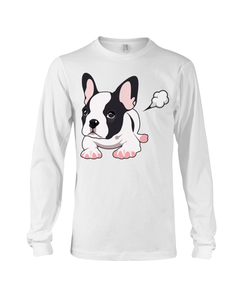 Funny French Bulldog Puppy T Shirt Long Sleeve Tee