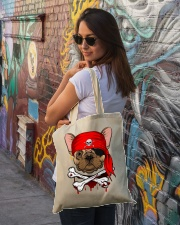 French bulldog Pirate Halloween Costume Tote Bag lifestyle-totebag-front-1