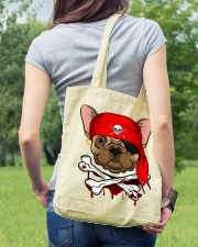 French bulldog Pirate Halloween Costume Tote Bag lifestyle-totebag-front-5
