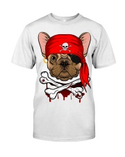 French bulldog Pirate Halloween Costume Premium Fit Mens Tee front